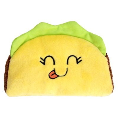 Mini Taco Plush Dog Toy Squeaks - Yellow - S - Boots & Barkley™