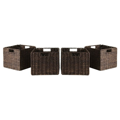 Granville 4 Piece Set Small Baskets   - Chocolate - Winsome - image 1 of 2