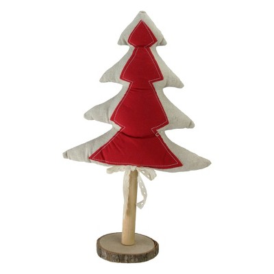 """Northlight 14"""" Red and Brown Christmas Tree Tabletop Decor"""