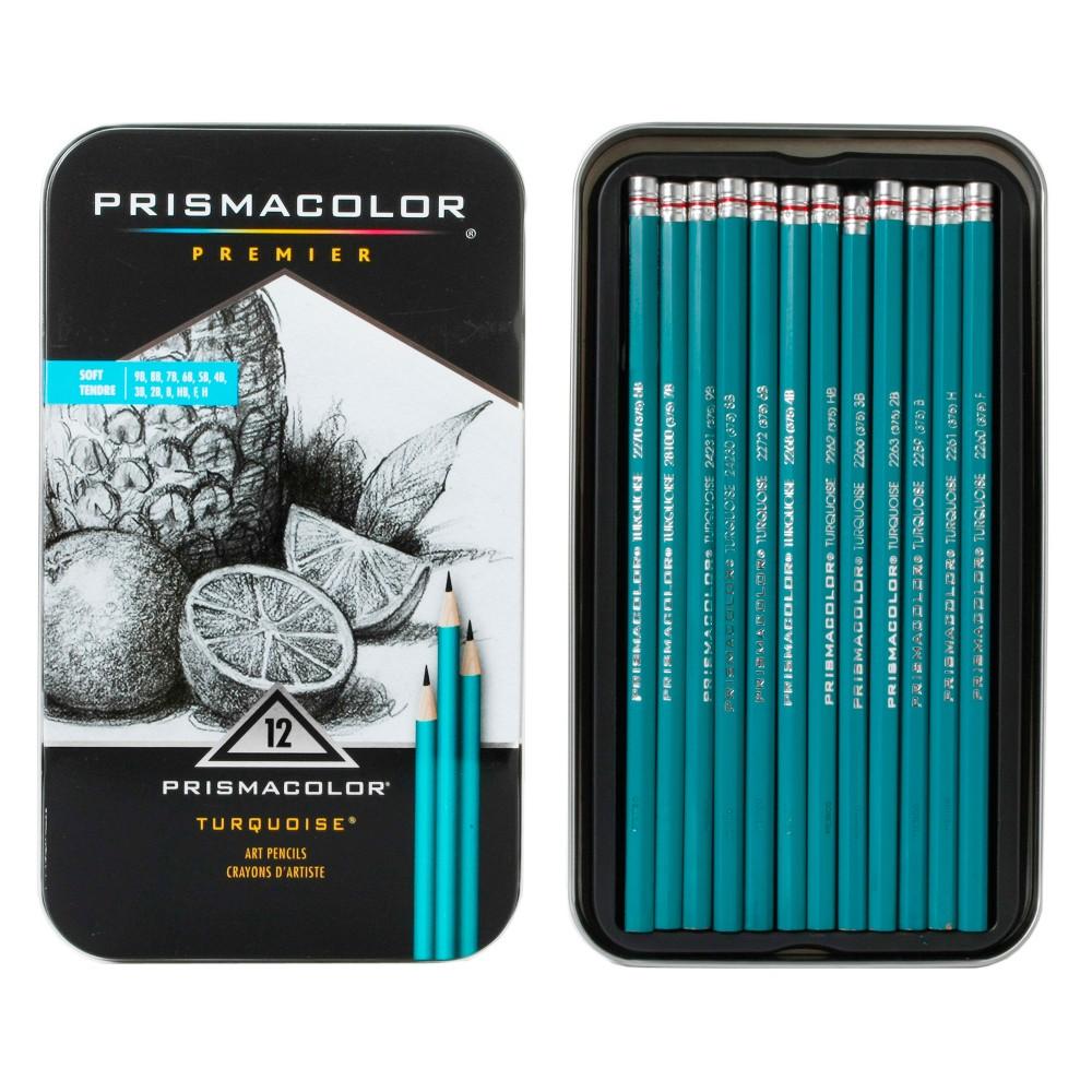 Turquoise Pencil Art Set 12ct - Prismacolor, Grey
