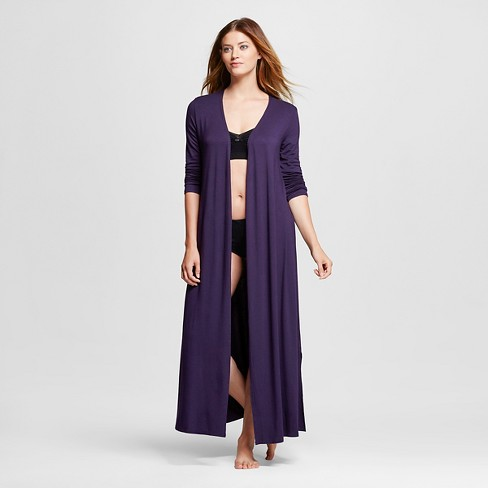 Women's Fluid knit Maxi Robe - Gilligan & O'Malley™ - Purple Bergamot - image 1 of 2