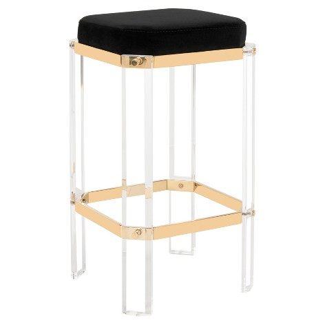 Counter And Bar Stools Barstool Gold Black - Safavieh - image 1 of 5