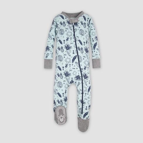 3661e5c2607f Burt's Bees Baby® Organic Cotton 'Tropical Season' Footed Sleeper - Seaglass