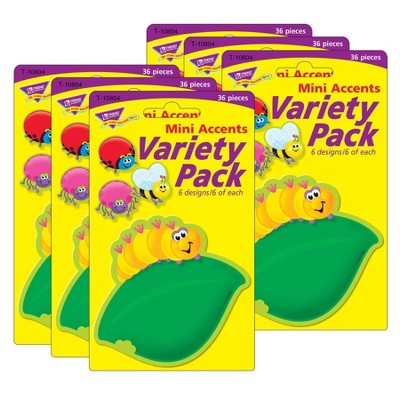 6pk 36 per Pack Bugs Mini Accents Variety Pack - TREND