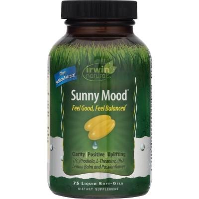 irwin naturals Sunny Mood Dietary Supplement Liquid Softgels - 75ct