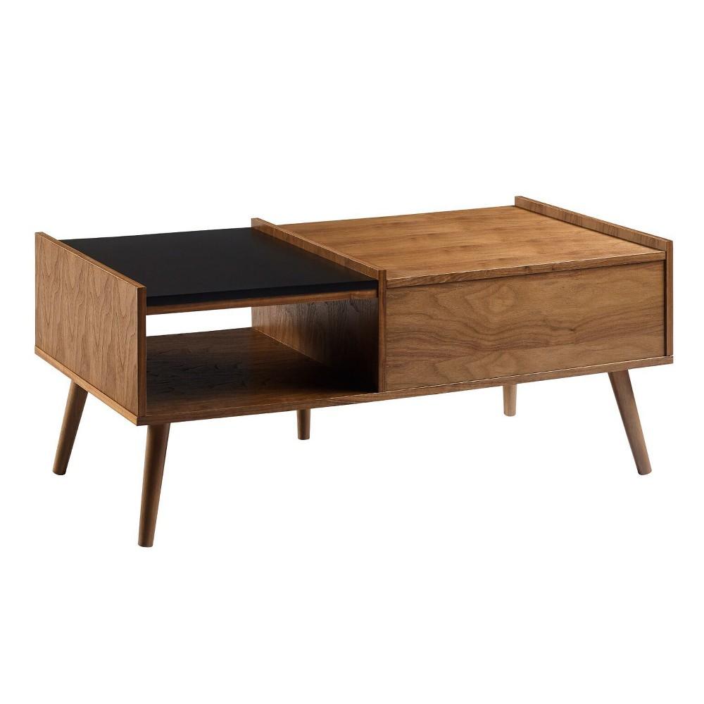 Image of Bloccare Coffee Table Walnut/Black - Versanora