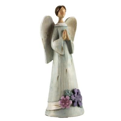 "Figurine 7.75"" Full Bloom Angel Spring Floral Heavenly  -  Decorative Figurines"
