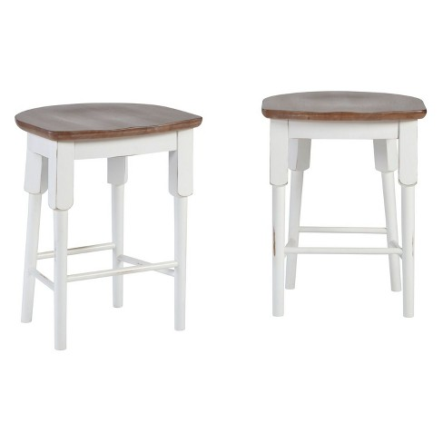 Shutters Counter Stool (set of 2) Light Oak/Distressed White - Progressive Furniture - image 1 of 1