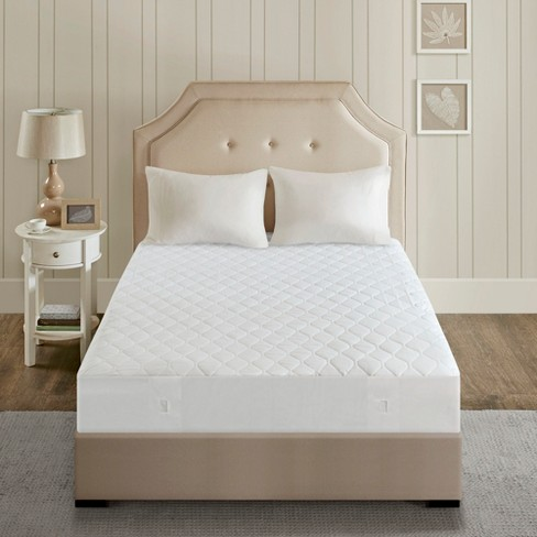 Cotton Blend Heated Mattress Pad Twin Xl White Beautyrest Target