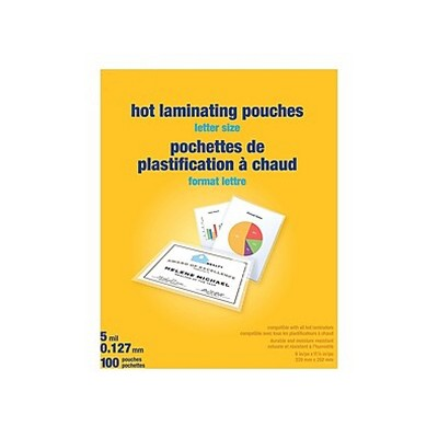 MyOfficeInnovations 5 mil Thermal Laminating Pouches Letter Size 100 pack 489526