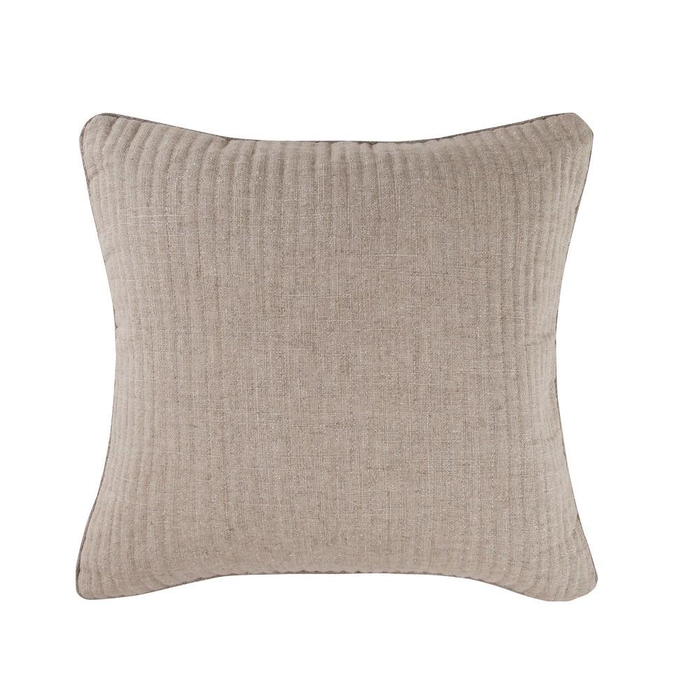 Image of 18x18 Eshani Sparkle Burlap Pillow Red - Mudhut