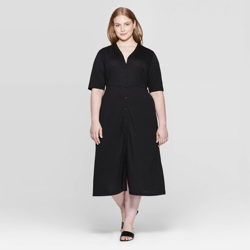 Women's Plus Size Elbow Sleeve V-Neck Maxi Dress - Who What Wear™ - image 1 of 3