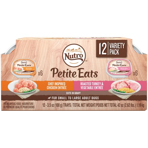 Nutro Chicken & Turkey Meal Tray Wet Dog Food - 3.5oz/12ct - image 1 of 5