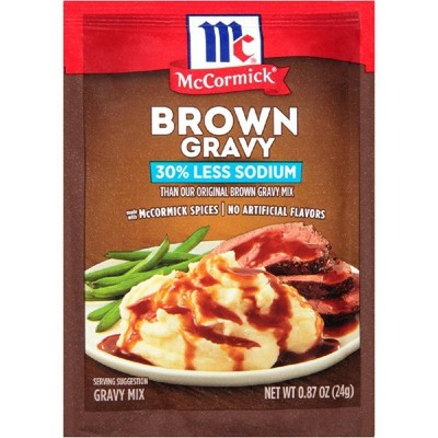 McCormick 30% Less Sodium Brown Gravy Mix .87oz