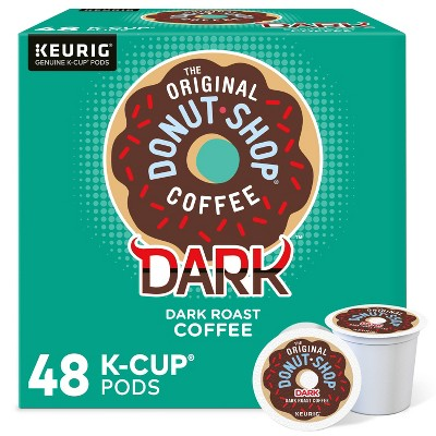 The Original Donut Shop Dark Keurig K-Cup Coffee Pods - Dark Roast - 48ct