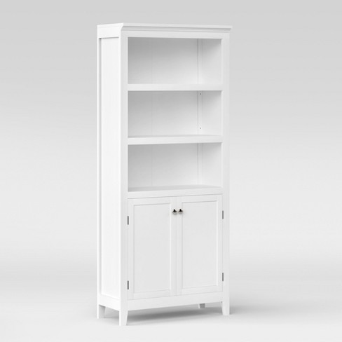 72 Carson 5 Shelf Bookcase With Doors Threshold