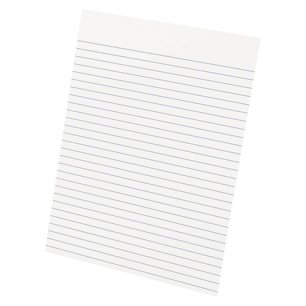Ampad Glue Top Ruled Pads, Letter - White (50 Sheets Per Pad)