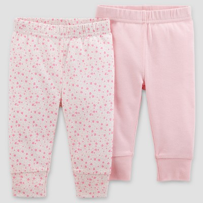 Baby Girls' 2pk Pants - Just One You® made by carter's Blush 6M