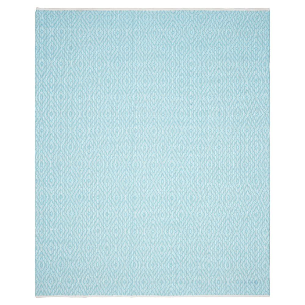 Turquoise/Ivory Diamond Flatweave Woven Area Rug 10'x14' - Safavieh