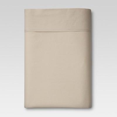 Ultra Soft Flat Sheet (King)Brown Linen 300 Thread Count - Threshold™