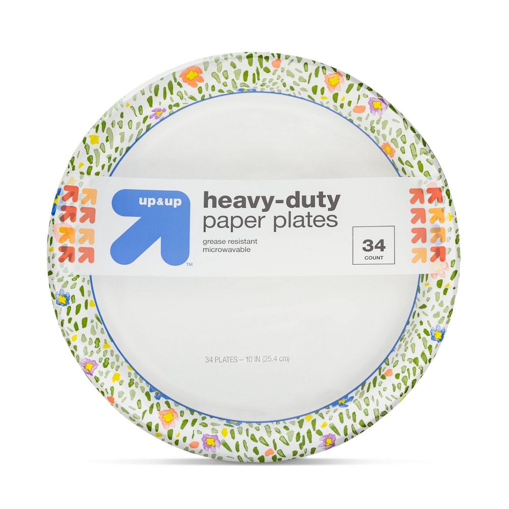 Disposable Printed Plates 10 - 34ct - Up&Up, Multi - Colored