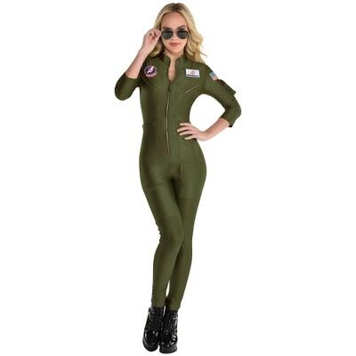 Adult Women's Top Gun: Maverick Flight Suit Halloween Costume
