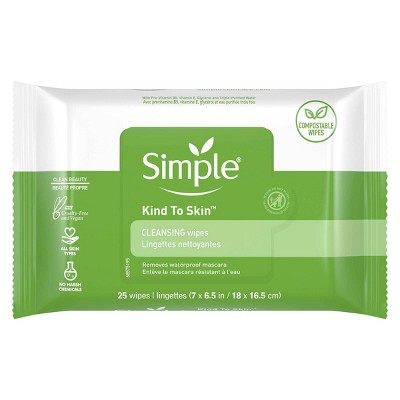 Simple Kind to Skin Facial Wipes - Unscented - 25ct