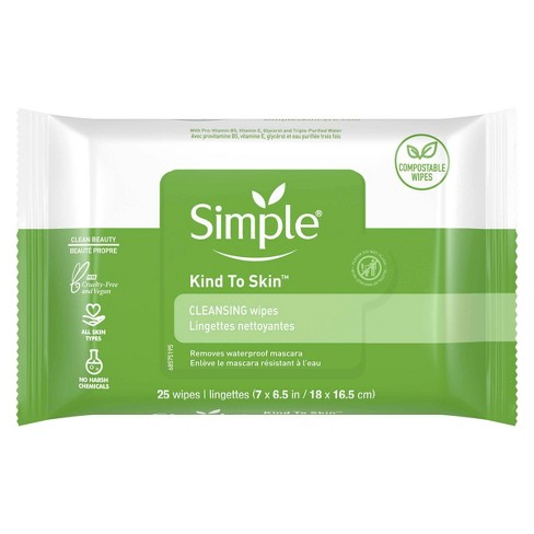 Simple Kind to Skin Facial Wipes - Unscented - 25ct - image 1 of 4