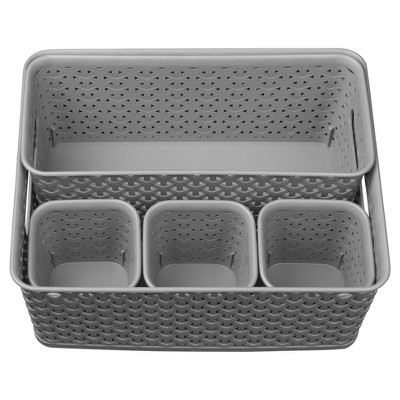 5pc Y-Weave Value Pack Gray - Room Essentials™