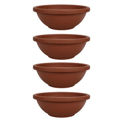 HC Companies GAB22000E35 22 Inch Garden Bowl Planter Pot, Terra Cotta (4 Pack)