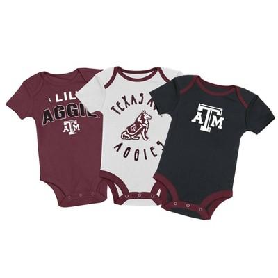 NCAA Texas A&M Aggies Baby Boys' 3pk Bodysuit Set