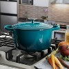 Crock Pot Artisan 5Qt Enamel Cast Iron Dutch Oven Gradient Teal - image 2 of 4