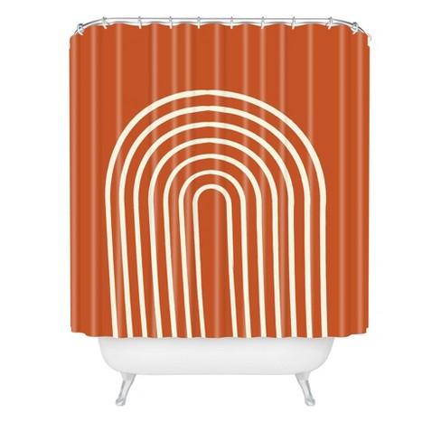 Grace Terracota Shower Curtain Orange - Deny Designs - image 1 of 4