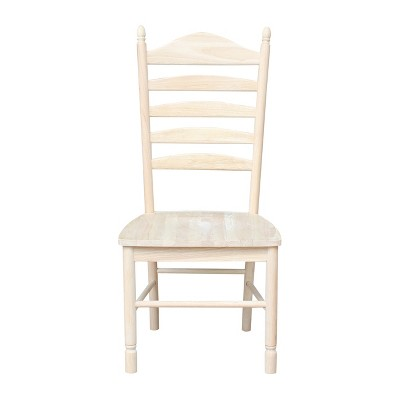 Merveilleux Set Of 2 Bedford Ladderback Chair Unfinished   International Concepts :  Target
