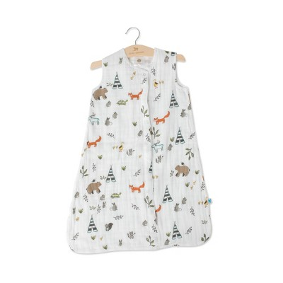 Little Unicorn 2-way zipper Muslin Sleep Bag - Forest Friends