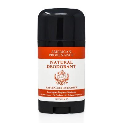 American Provenance Fastballs & Fisticuffs Aluminum-Free Natural Deodorant - 2.65oz