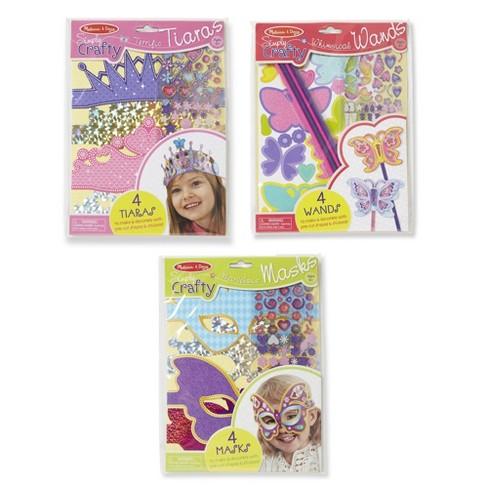 Melissa & Doug Simply Crafty Activity Kits Set: Terrific Tiaras, Marvelous Masks, Whimsical Wands (Makes 4 of Each) - image 1 of 4