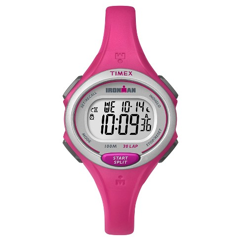 Women's Timex Ironman® Essential 30 Lap Digital Watch - Pink TW5K903009J - image 1 of 1