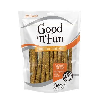 Good 'n' Fun Crunchy Chicken Sticks Rawhide Dog Treats - 20ct