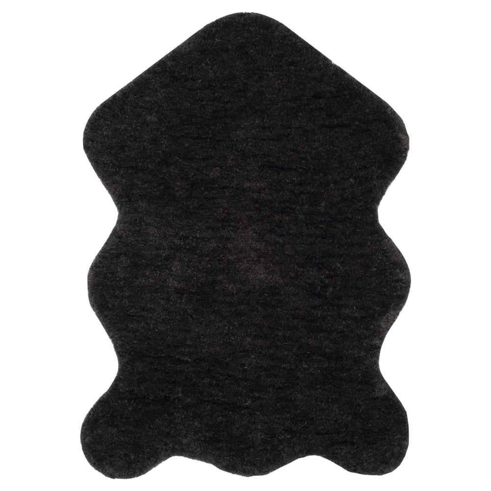 Charcoal (Grey) Solid Tufted Accent Rug - (2'6x4') - Safavieh