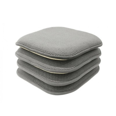 GoodGram Non Slip Chenille Premium Memory Foam Chair Cushions (4 Pack)