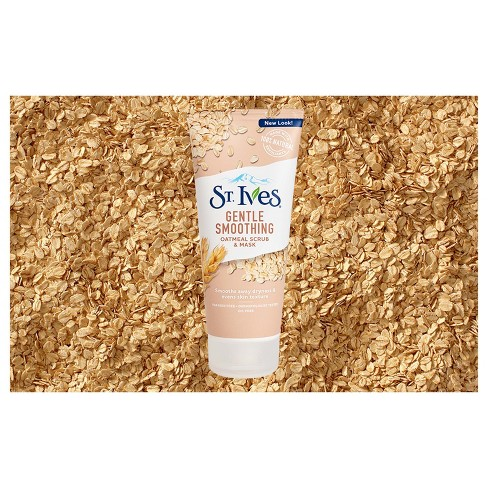 Unscented St. Ives Nourished And Smooth Oatmeal Scrub And Mask - 6oz : Target