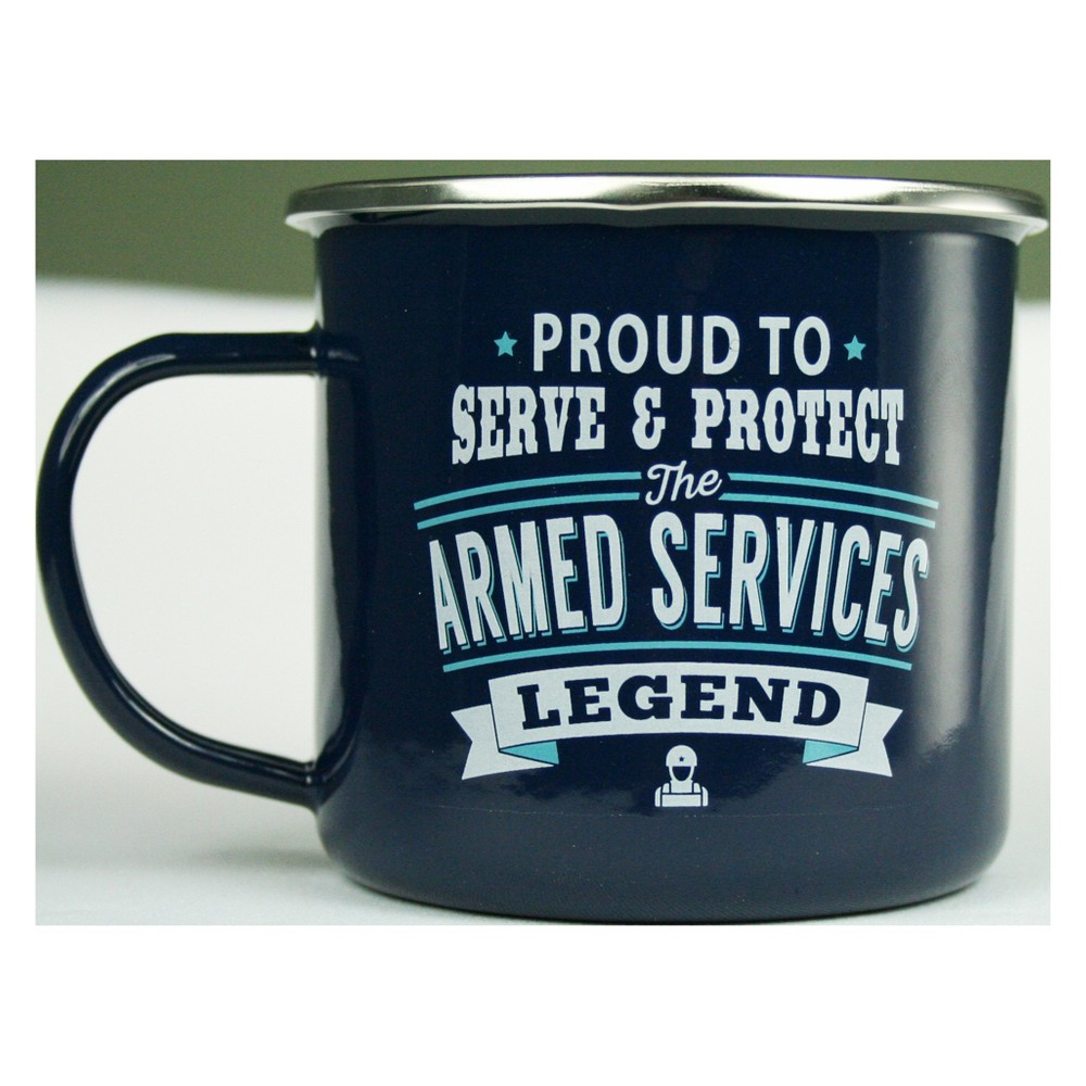 Image of Armed Services Mug - History & Heraldry, Blue