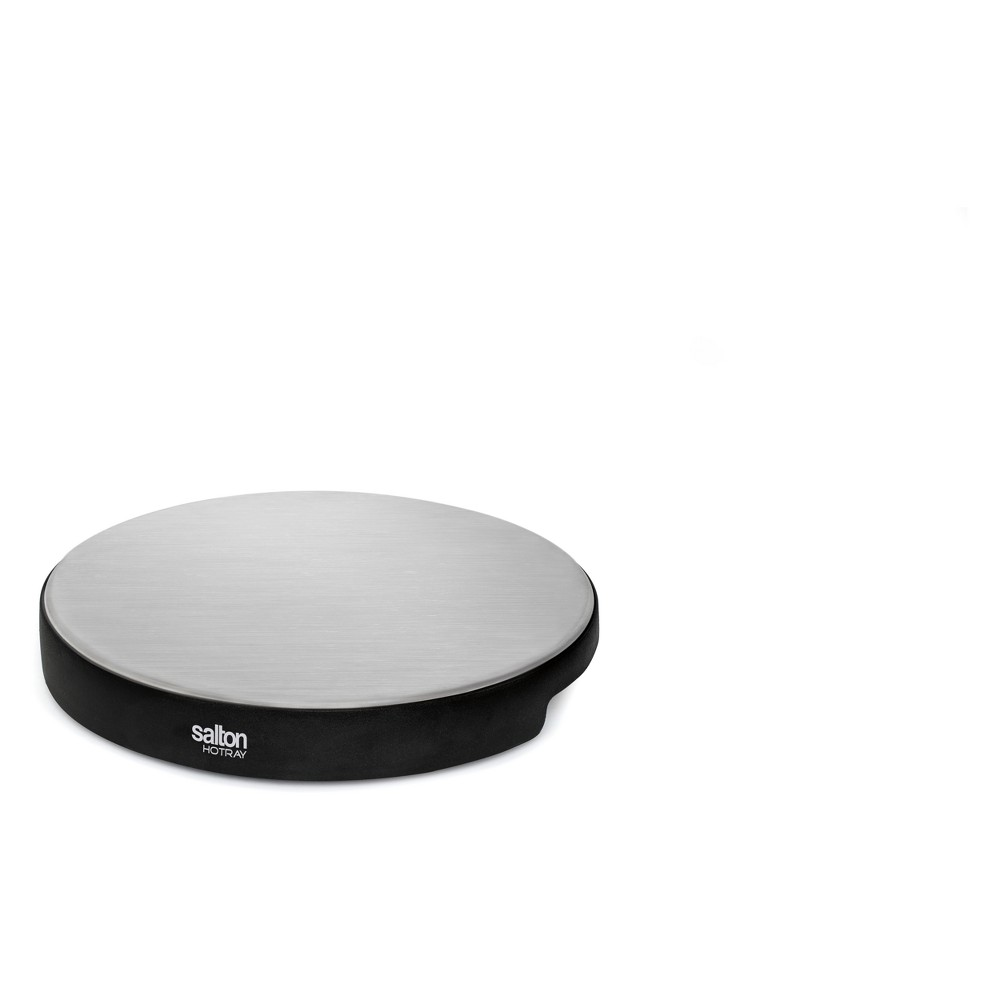"Image of ""Salton Cordless """"Lazy Susan"""" Tray - Black"""