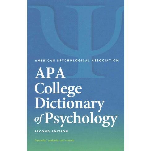 APA Dictionary of Psychology