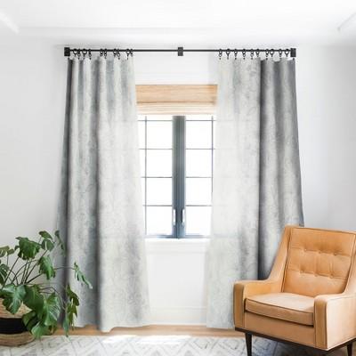 Emanuela Carratoni Line Art Floral Theme Single Panel Blackout Window Curtain - Deny Designs