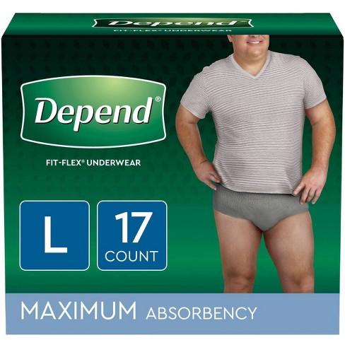 Depend Men's Fit-Flex Convenience Incontinence Underwear - Large ...