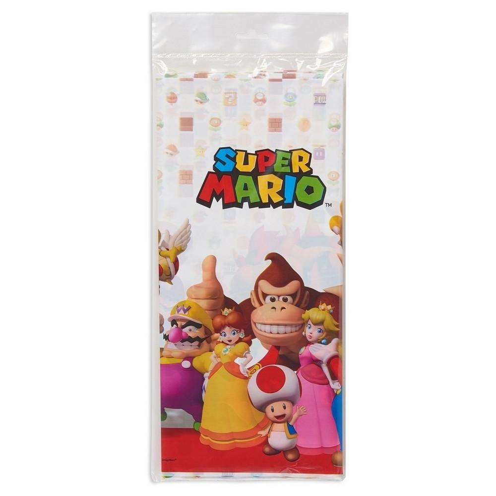 Super Mario Plastic Table Cover, Multi-Colored