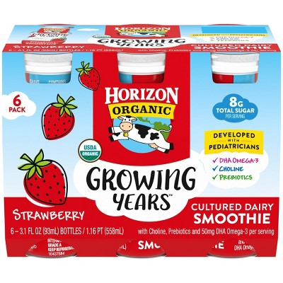 Horizon Organic Growing Years Kids' Strawberry Yogurt Drink - 24.8 fl oz/6pk