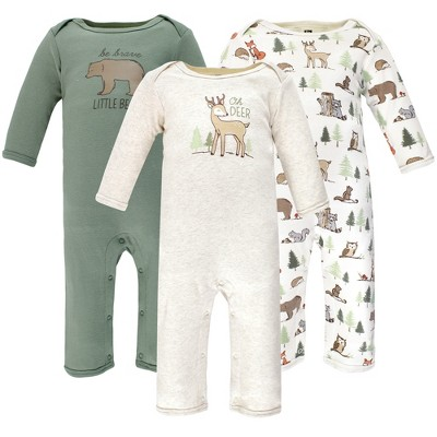 Hudson Baby Infant Boy Cotton Coveralls, Forest Animals